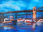 Burrard Bridge Tugboats