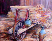 Quail and Wheat Barrow