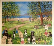 Dog Park Mural at Penticton Dog Control Center